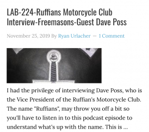 LAB-224-Ruffians Motorcycle Club Interview-Freemasons-Guest Dave Poss